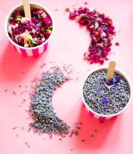 lavender rose petals confetti