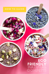dried biodegradable petals