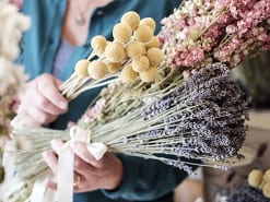 arranging bunches floristry