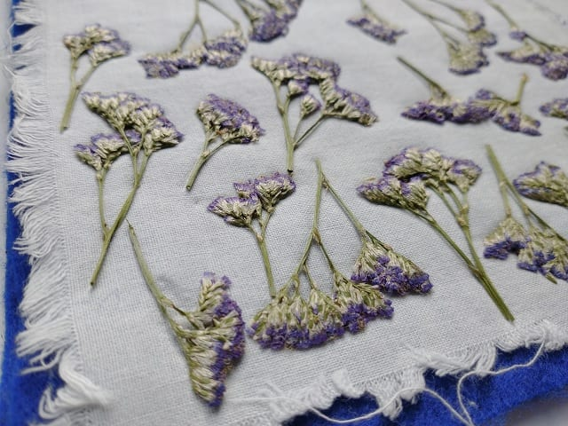 flower press sea lavender