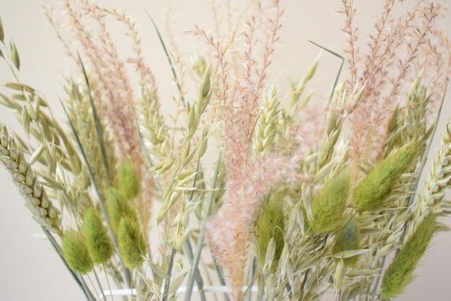 dried grass arrangement