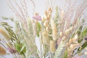 dried grass arrangement detail
