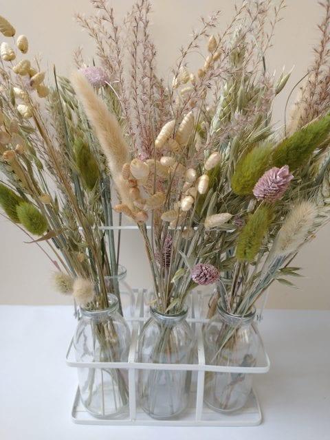 quaking grass lagurus bottle floral display